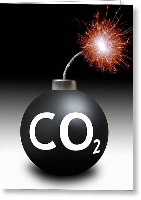 Carbon Dioxide Bomb Greeting Card by Victor De Schwanberg