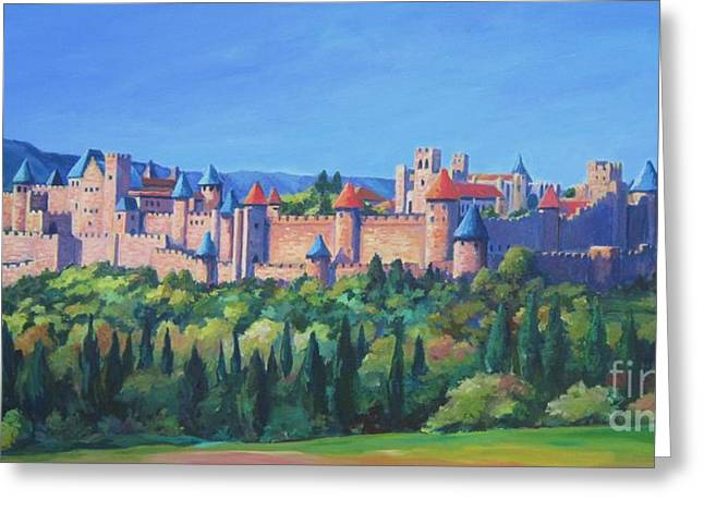 Carcassone   Greeting Card by John Clark