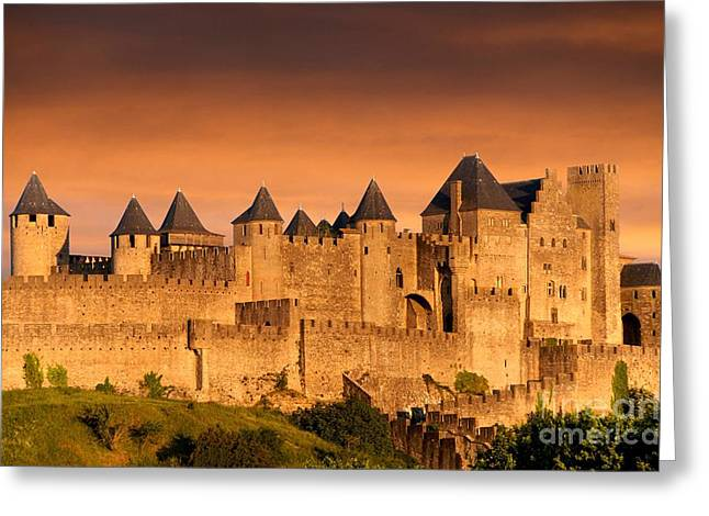 Languedoc Greeting Cards - Carcassonne. Aude. France. Europe Greeting Card by Bernard Jaubert