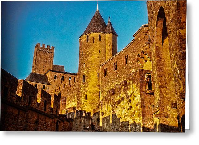 Languedoc Greeting Cards - Carcassonne Greeting Card by Colin and Linda McKie