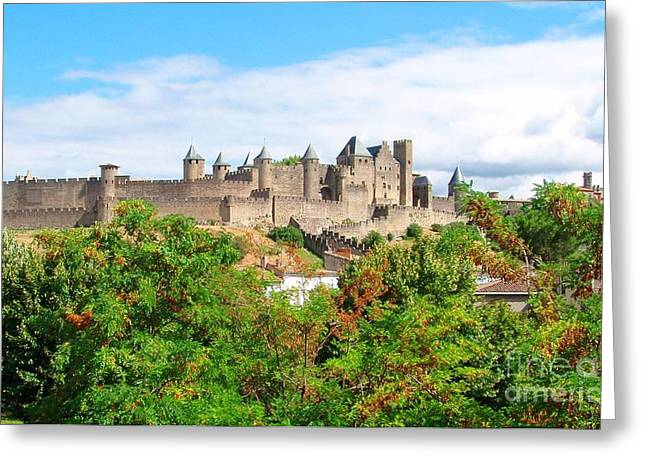 Carcassonne Greeting Cards - Carcassonne France Greeting Card by Sophie Vigneault