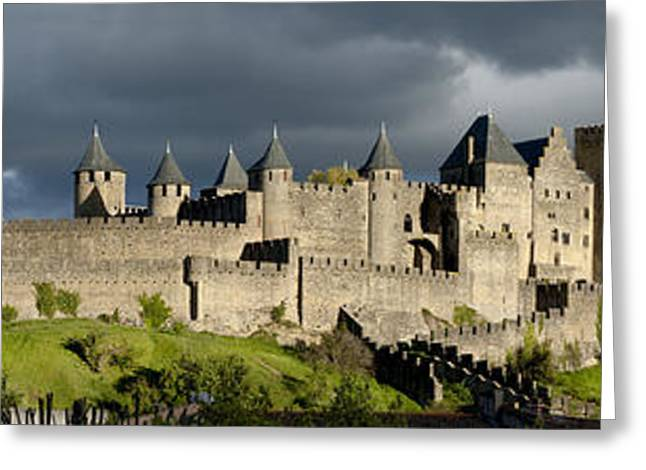 Languedoc Greeting Cards - Carcassonne Panorama Greeting Card by Robert Lacy