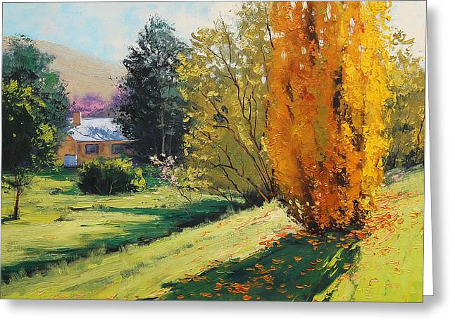 Fall Trees Greeting Cards - Carcor Autumn Greeting Card by Graham Gercken