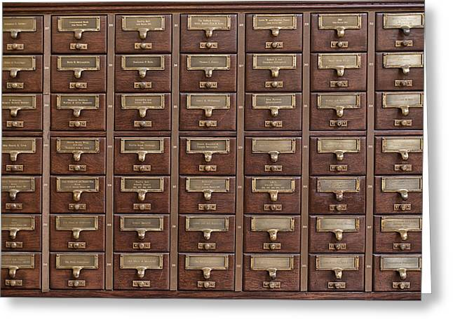Catalog Greeting Cards - Card Catalog  Greeting Card by Mountain Dreams