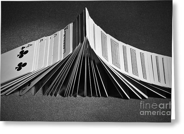 Domino Effect Greeting Cards - Playing cards domino Greeting Card by Angelo DeVal