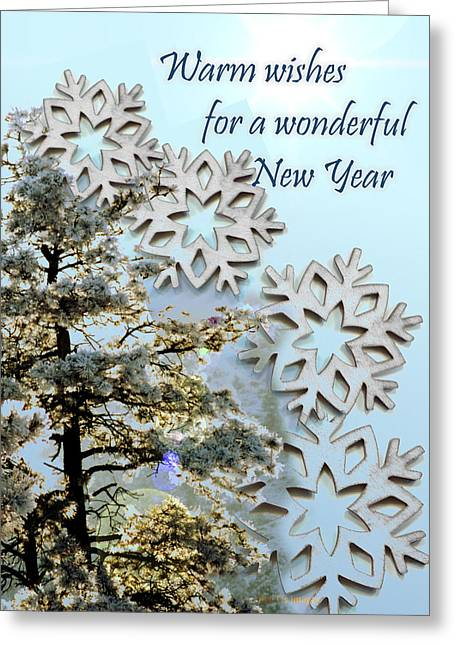 Frosty Mixed Media Greeting Cards - Card for New Year 2 Greeting Card by Kae Cheatham