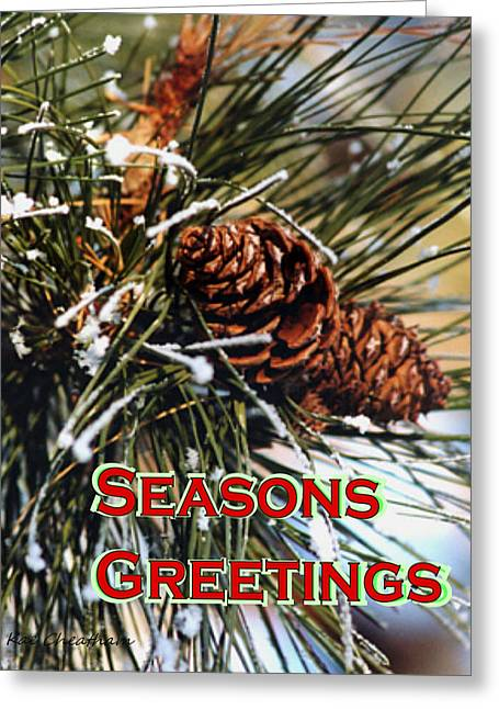 Pine Needles Greeting Cards - Card for the Winter Greeting Card by Kae Cheatham
