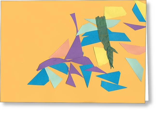 Cardboard Cut Out Shapes Greeting Card by Fizzy Image