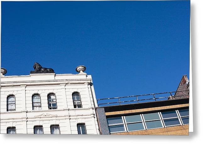 Urban Lion Greeting Cards - Cardiff buildings Greeting Card by Tom Gowanlock