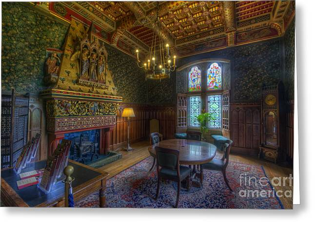 Dining Hall Greeting Cards - Cardiff Castle Apartment Dining Room Greeting Card by Yhun Suarez