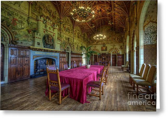 Dining Hall Greeting Cards - Cardiff Castle Dining Hall Greeting Card by Yhun Suarez