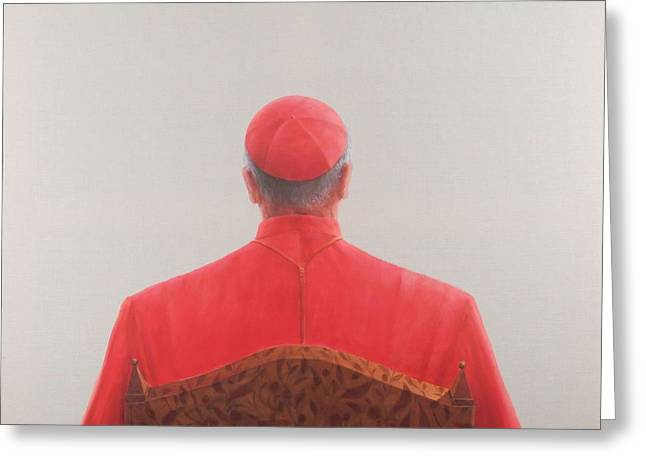 Cardinal, 2012 Acrylic On Canvas Greeting Card by Lincoln Seligman
