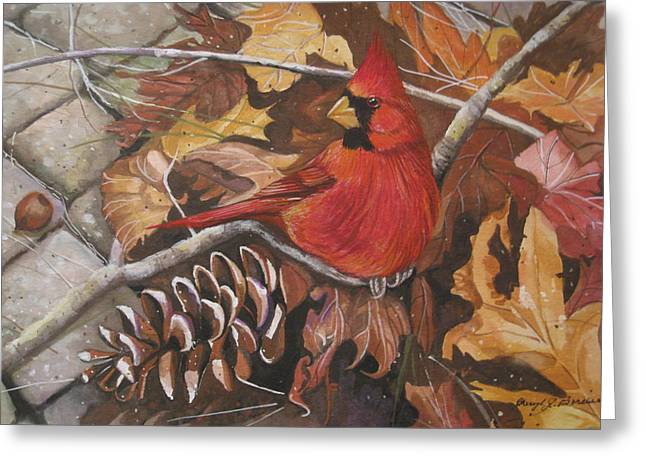 Cheryl Borchert Greeting Cards - Cardinal Color Greeting Card by Cheryl Borchert