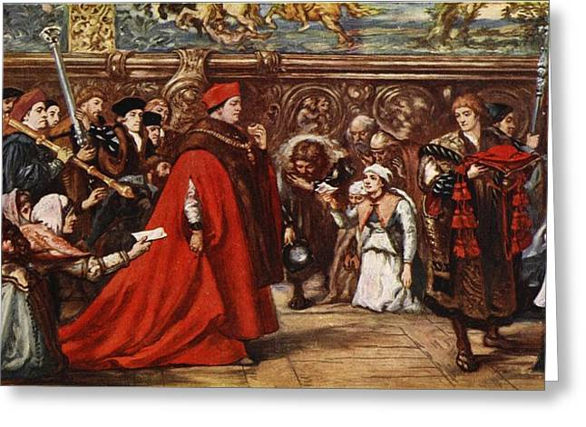 Statesmen Drawings Greeting Cards - Cardinal Wolsey On His Way Greeting Card by Sir John Gilbert