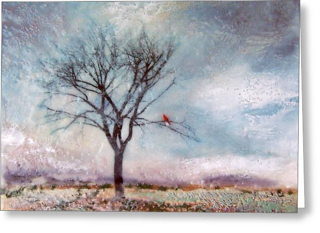 Red Cardinal Greeting Cards - Cardinals Perch Greeting Card by Victoria Primicias