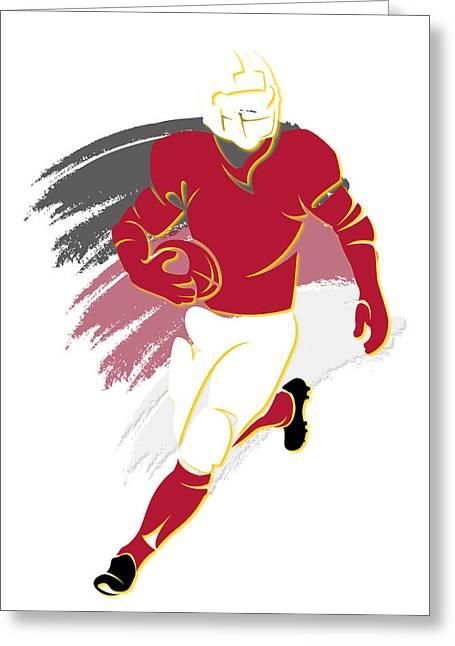 Arizona Cardinals Greeting Cards - Cardinals Shadow Player2 Greeting Card by Joe Hamilton