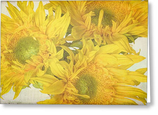 Lively Floral Design Greeting Cards - Carefree Greeting Card by Heidi Smith