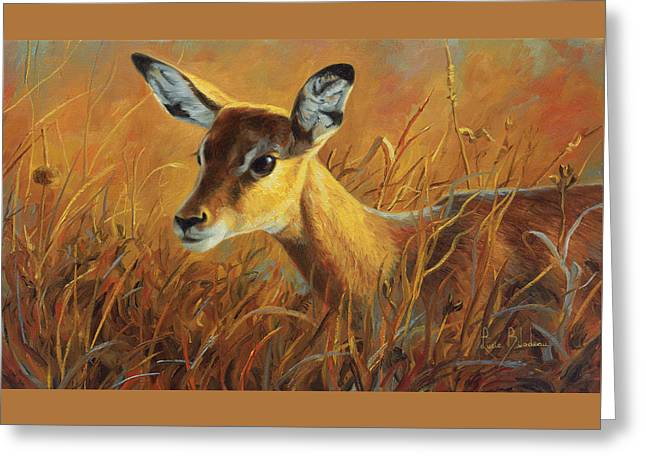 Africa Greeting Cards - Careful Greeting Card by Lucie Bilodeau