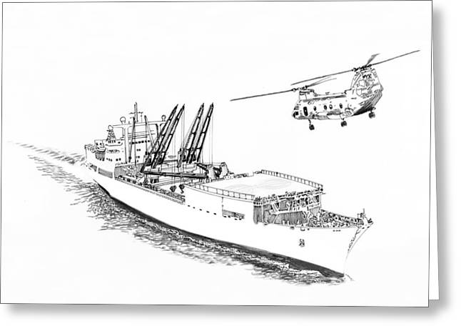 Canvas On Board Greeting Cards - Cargo Ship Delivering the Friday night movies Greeting Card by Jack Pumphrey