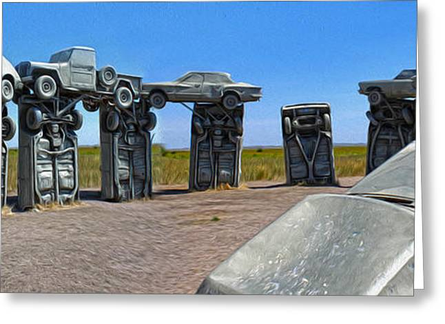 Rusted Cars Greeting Cards - Carhenge - 10 Greeting Card by Gregory Dyer