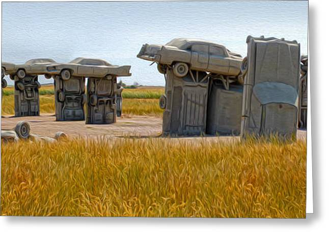 Rusted Cars Greeting Cards - Carhenge - 14 Greeting Card by Gregory Dyer