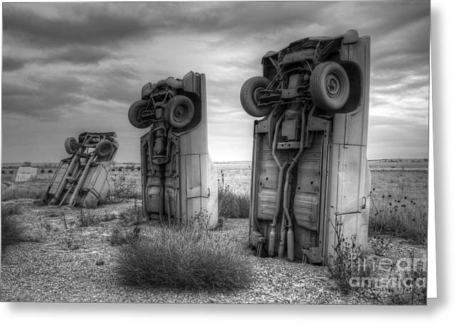 Canadian Photographer Greeting Cards - Carhenge Automobile Art 3 Greeting Card by Bob Christopher