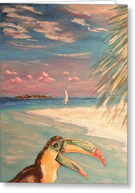 Coastline Pastels Greeting Cards - Caribbean Afternoon Greeting Card by The Beach  Dreamer
