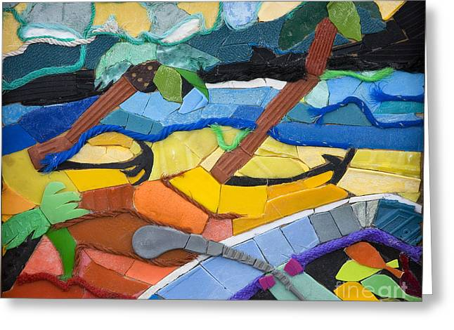 Collecting Debris Greeting Cards - Caribbean Beach Greeting Card by Nicola Scott-Taylor