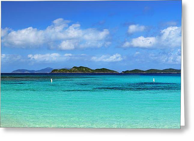 Pillsbury Greeting Cards - Caribbean Beach Panorama Greeting Card by Luke Moore