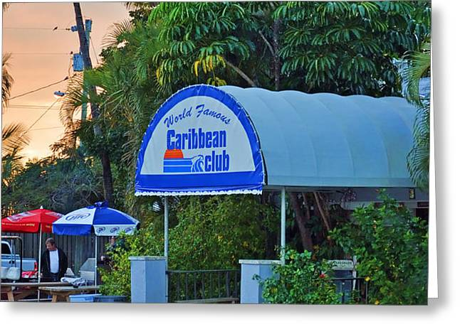 Caribbean Club Key Largo Greeting Card by Chris Thaxter