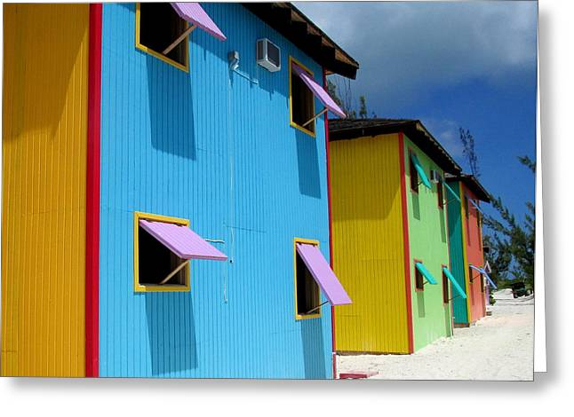 Caribbean Architecture Greeting Cards - Caribbean Color Greeting Card by Randall Weidner