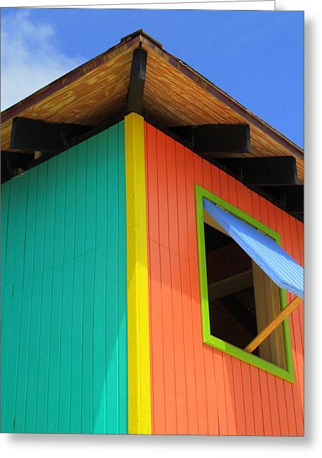Caribbean Architecture Greeting Cards - Caribbean Corner 1 Greeting Card by Randall Weidner