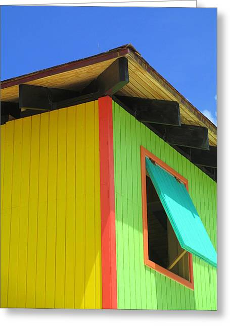 Caribbean Architecture Greeting Cards - Caribbean Corner 2 Greeting Card by Randall Weidner