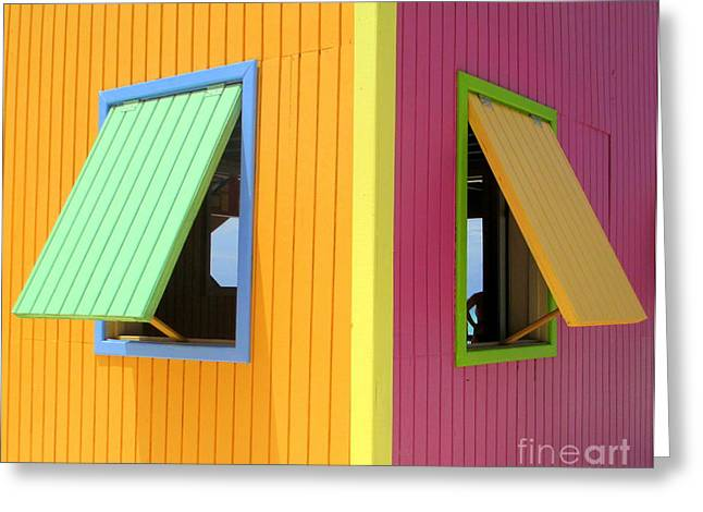 Cabin Window Greeting Cards - Caribbean Corner 3 Greeting Card by Randall Weidner