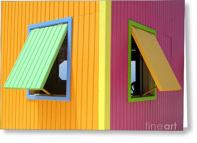 Window Greeting Cards - Caribbean Corner 3 Greeting Card by Randall Weidner