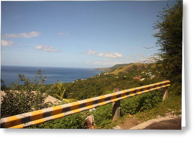 Ship Greeting Cards - Caribbean Cruise - Dominica - 121234 Greeting Card by DC Photographer