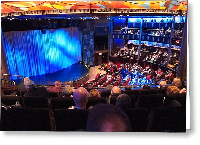 Ship Greeting Cards - Caribbean Cruise - On Board Ship - 1212109 Greeting Card by DC Photographer