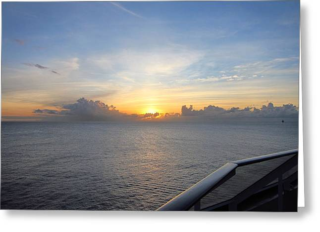 On Greeting Cards - Caribbean Cruise - On Board Ship - 1212145 Greeting Card by DC Photographer