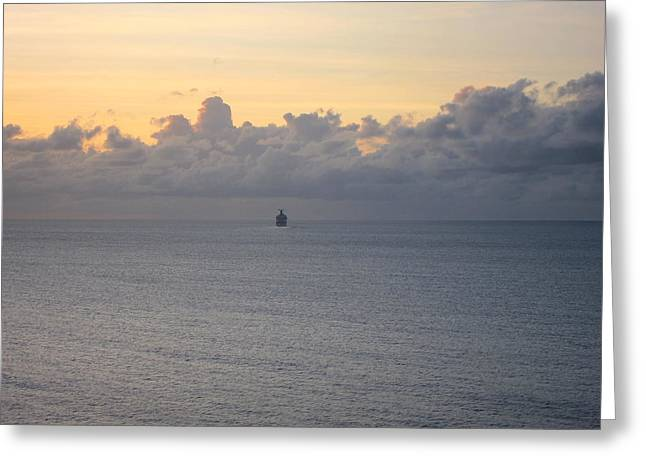 Ship Greeting Cards - Caribbean Cruise - On Board Ship - 1212146 Greeting Card by DC Photographer