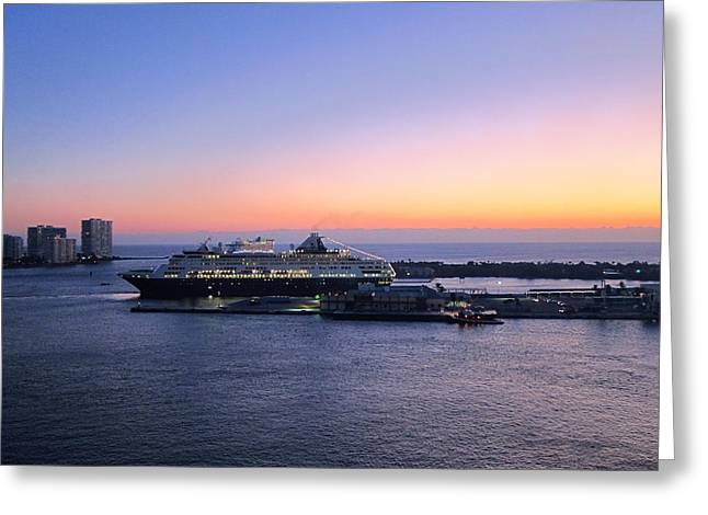 Caribbean Greeting Cards - Caribbean Cruise - On Board Ship - 1212227 Greeting Card by DC Photographer