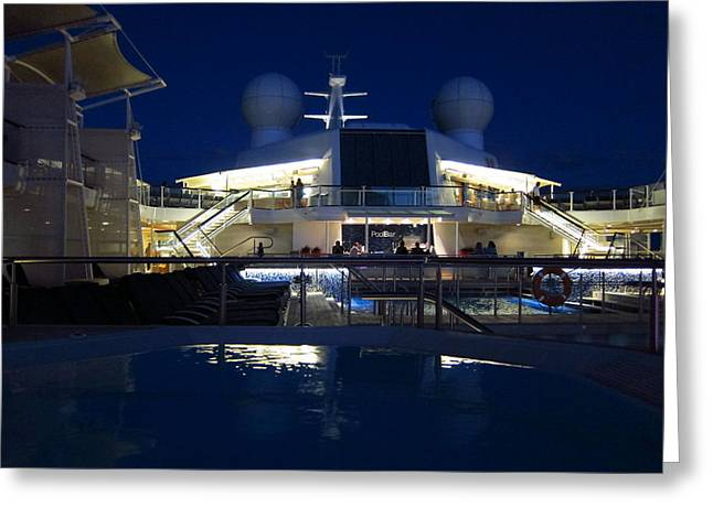 Ship Greeting Cards - Caribbean Cruise - On Board Ship - 121235 Greeting Card by DC Photographer