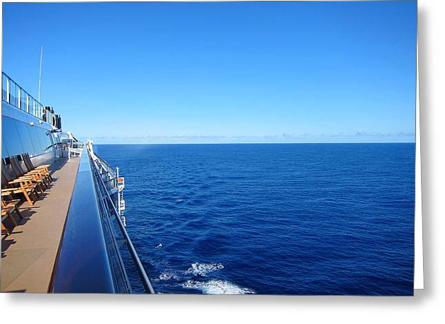 Caribbean Cruise - On Board Ship - 121266 Greeting Card by DC Photographer