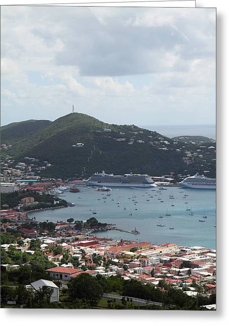 Caribbean Greeting Cards - Caribbean Cruise - St Thomas - 1212201 Greeting Card by DC Photographer