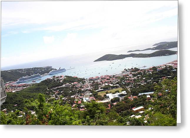 Caribbean Cruise - St Thomas - 1212248 Greeting Card by DC Photographer