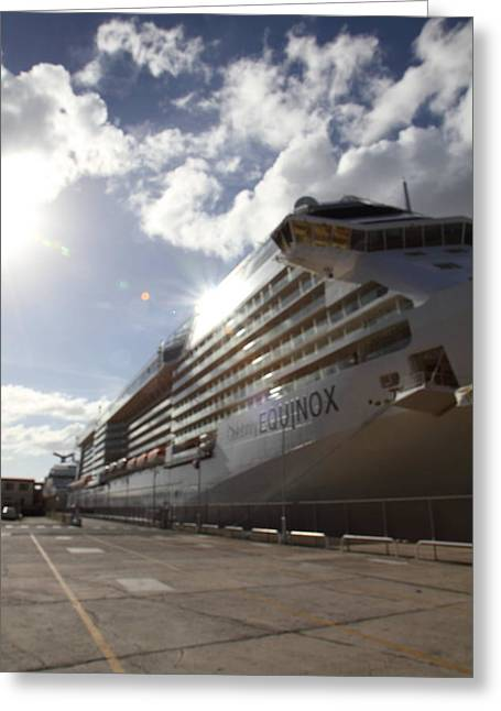 Cruise Greeting Cards - Caribbean Cruise - St Thomas - 1212301 Greeting Card by DC Photographer