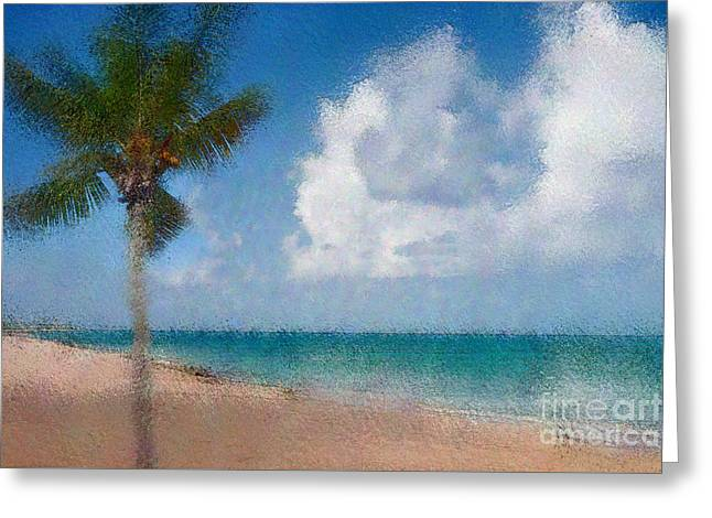 Tropical Photographs Digital Greeting Cards - Caribbean Dreams Greeting Card by Betty LaRue