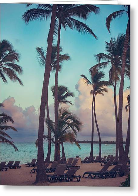 Evening Lights Greeting Cards - Caribbean Dreams Greeting Card by Laurie Search