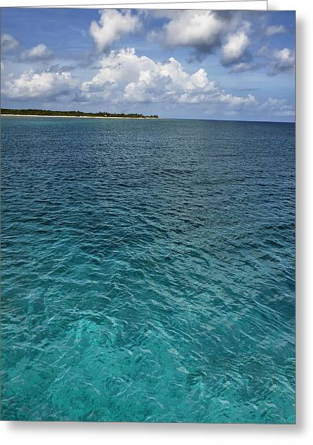 Tropical Island Greeting Cards - Caribbean Greens and Blues Greeting Card by Stephen Anderson
