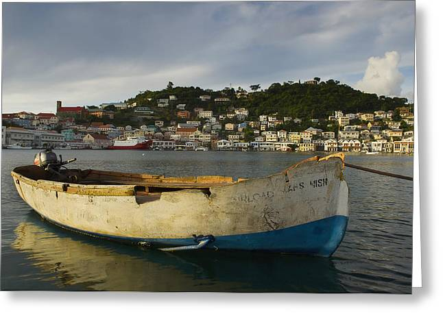 St. George Island Greeting Cards - Caribbean, Grenada, Carenage Harbor St Greeting Card by Chris Parker