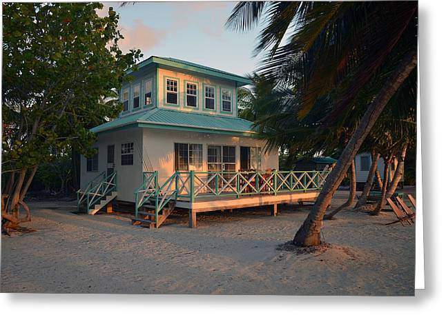 Sunset Greeting Cards Greeting Cards - Caribbean Hideaway Greeting Card by Ken  Collette